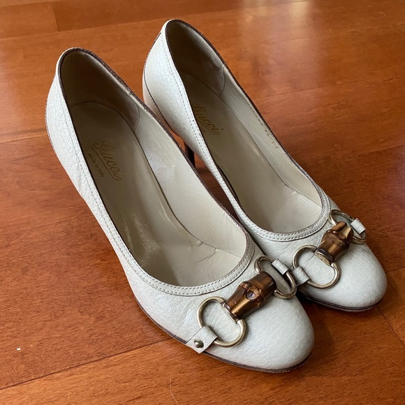 Gucci Horsebit And Bamboo Leather Pumps - 36